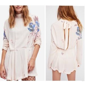 Free People NWT Gemma mini-dress rare print